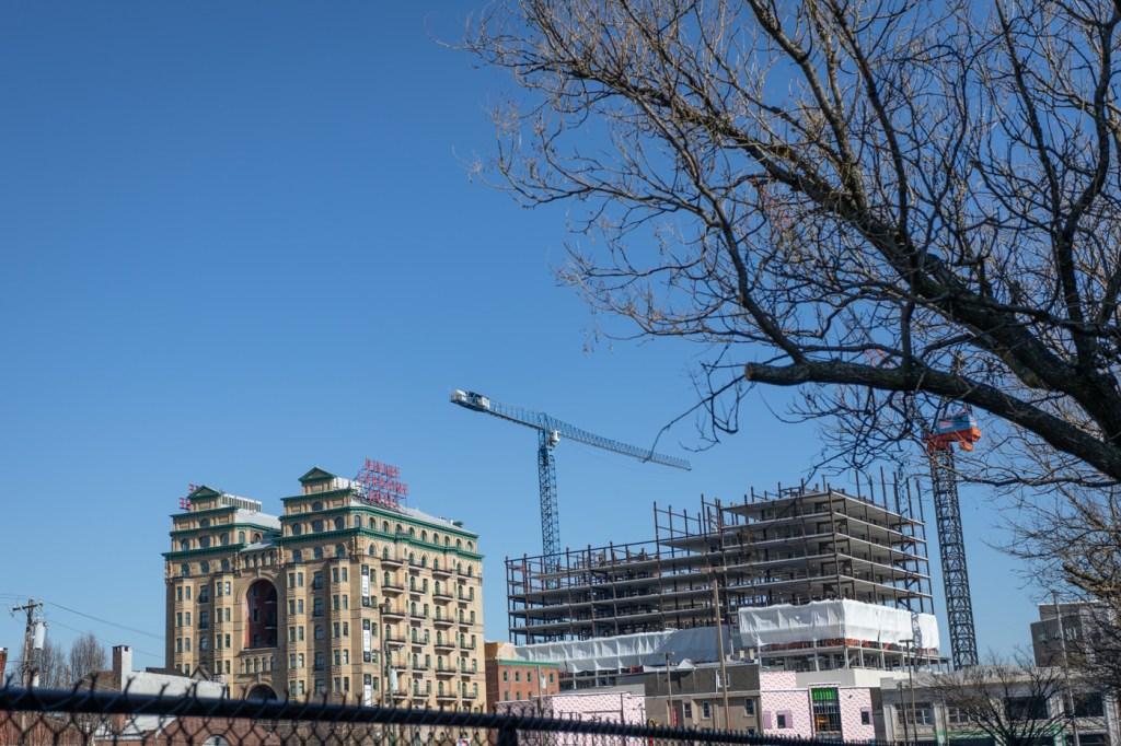Divine Lorraine Hotel and Cranes