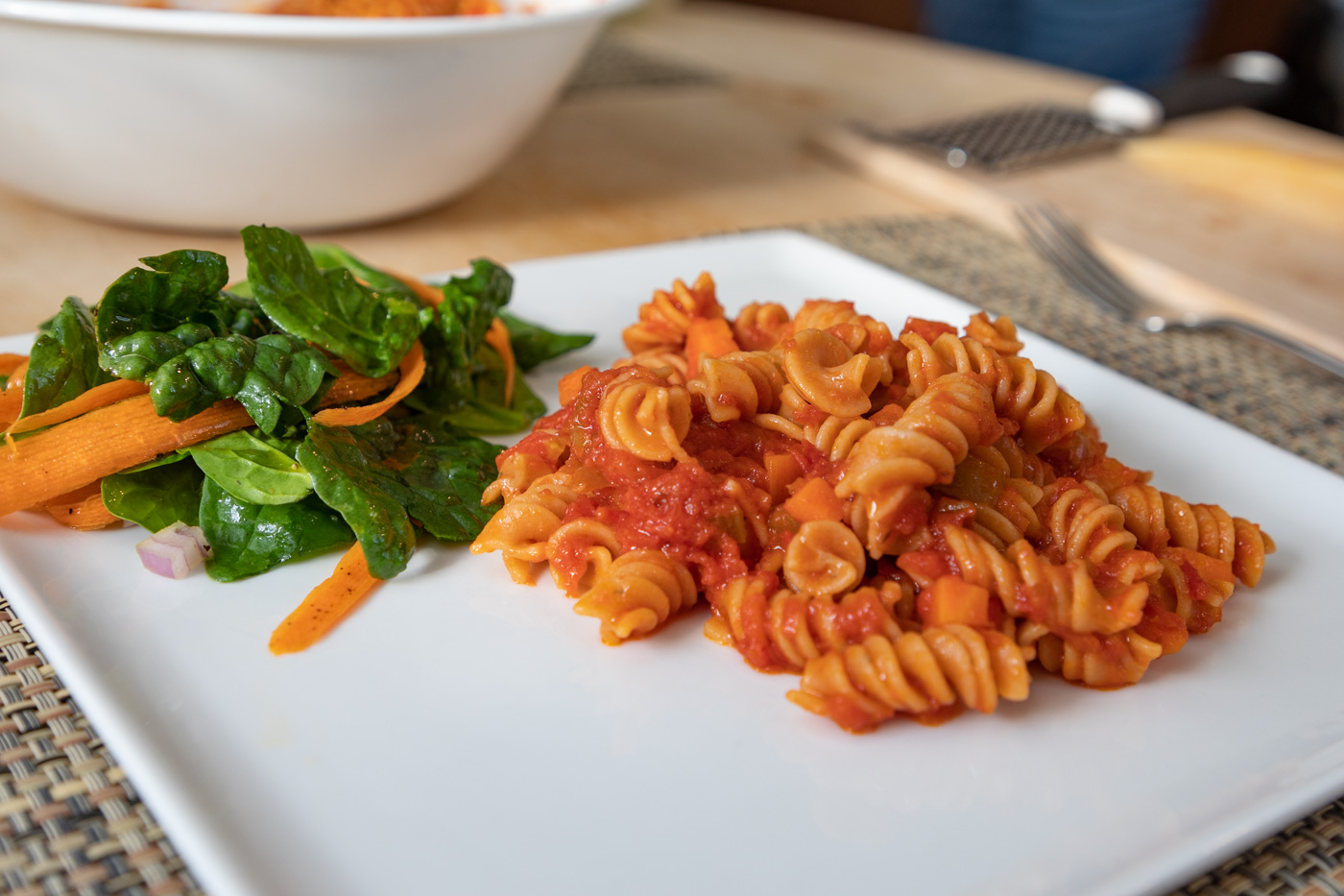 Pasta with Sauteed Vegetable Tomato Sauce