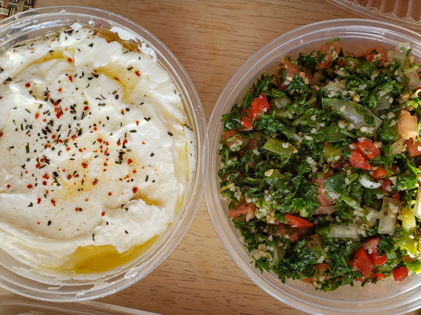 Lebni and Tabouleh from Apricot Stone