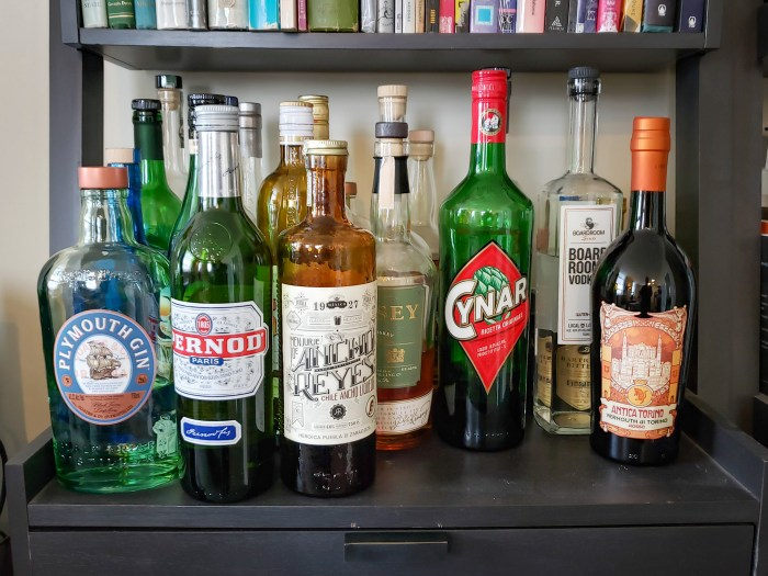 View of the Booze Shelf Week 5 of Social Isolation