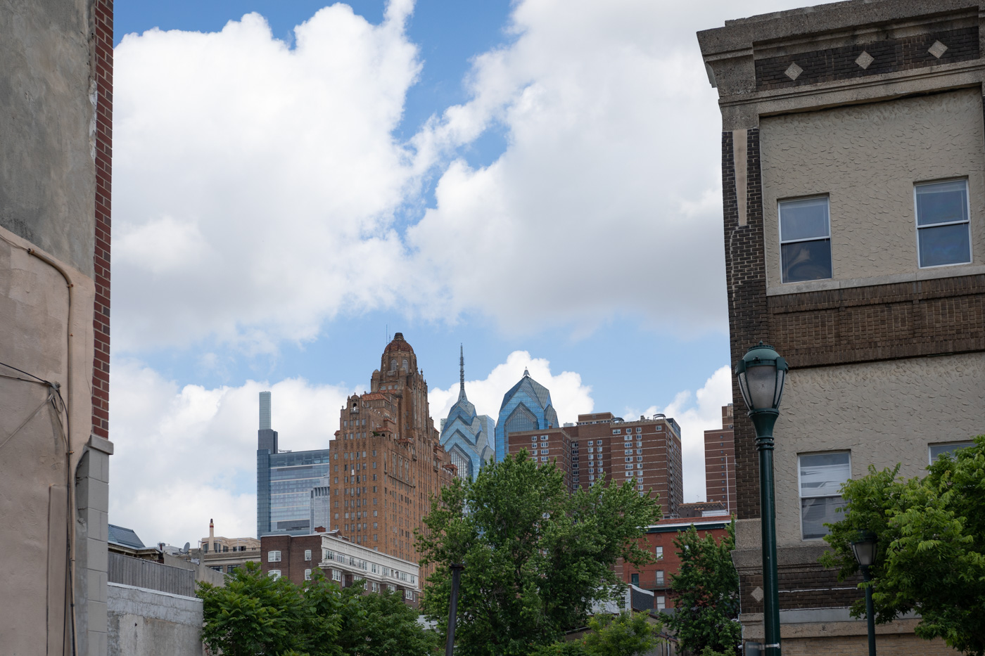 Philadelphia Skyline as Seen from South Street