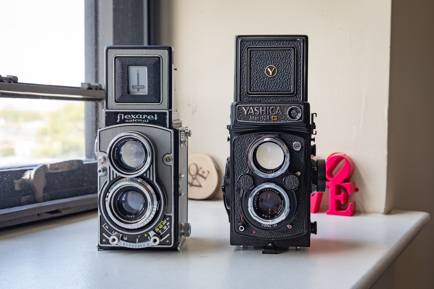 Flexaret Automat and Yashica Mat-124 G