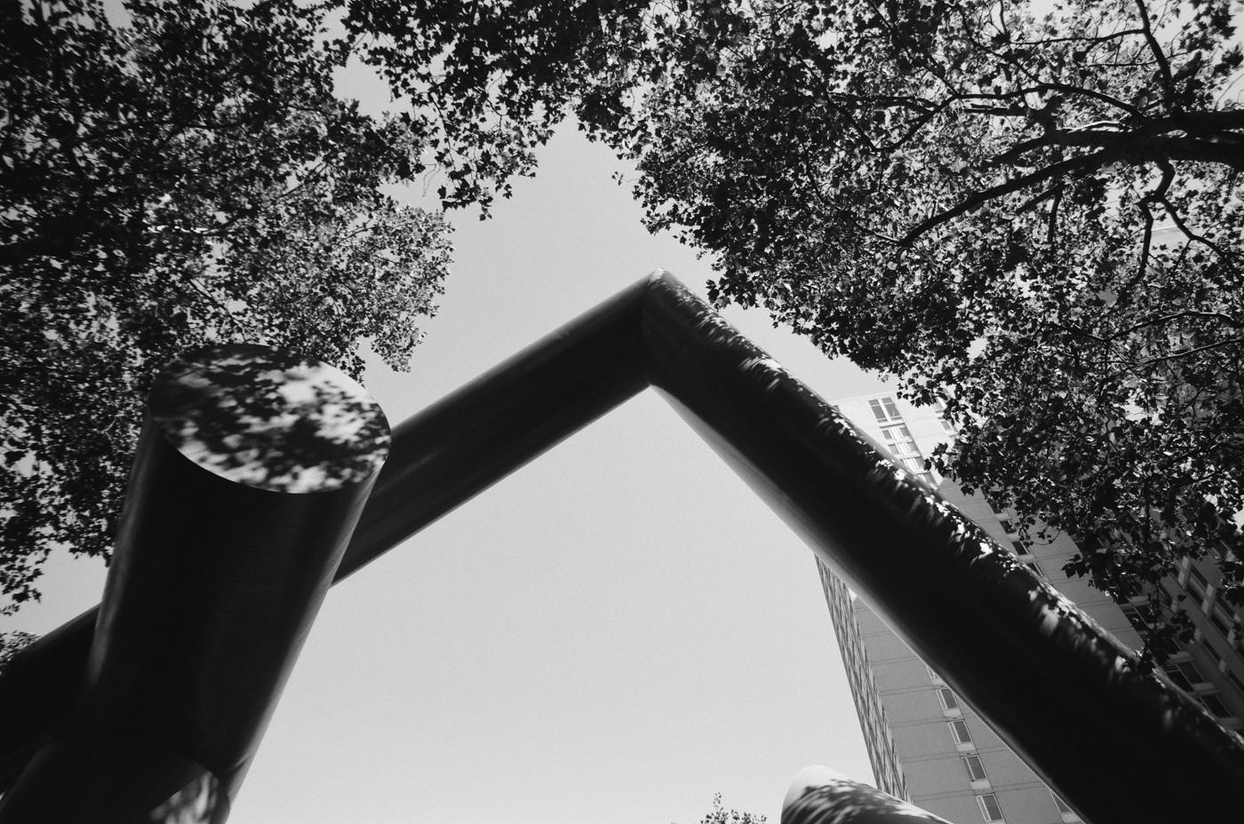 Sculpture along Locust Walk