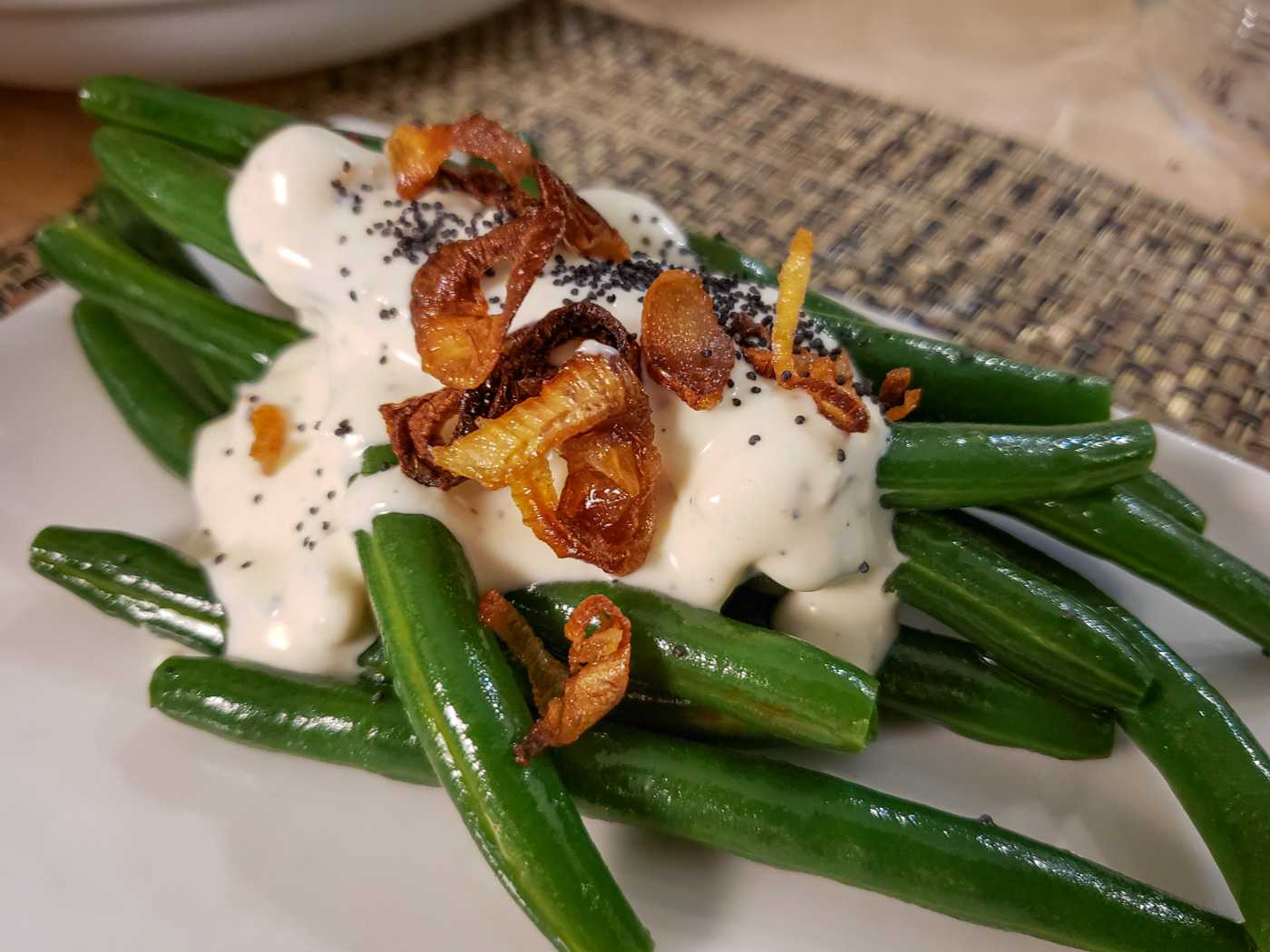Green Beans with Créme Fraîche and Preserved Lemon