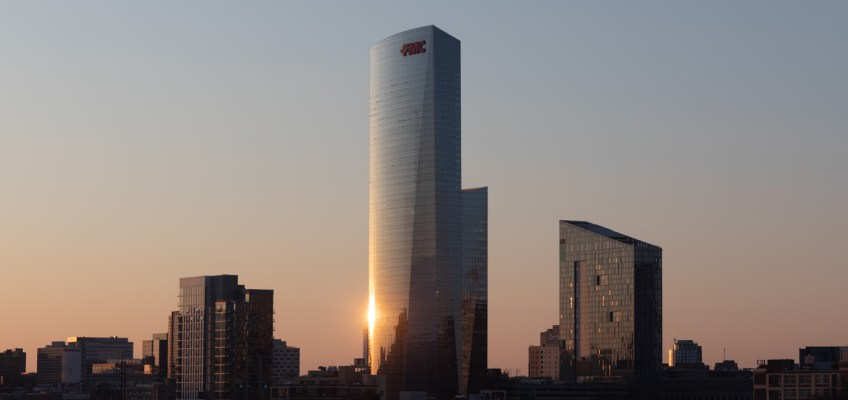 Sunset Reflection on the FMC Tower