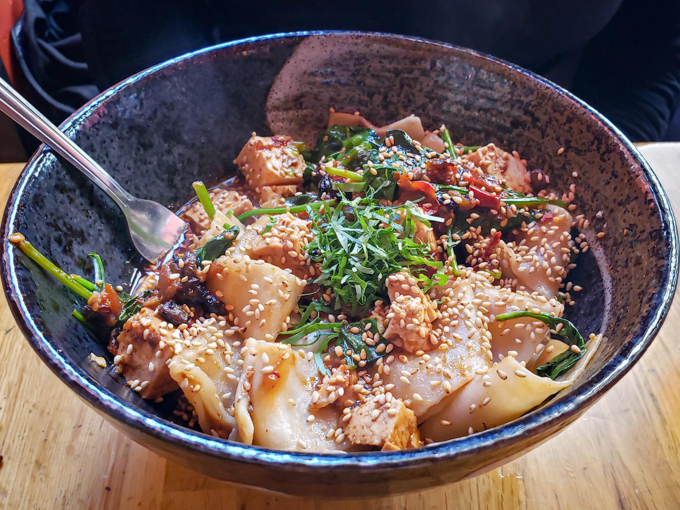 Sichaun Spicy Fat Noodles at Cheu Noodle Bar