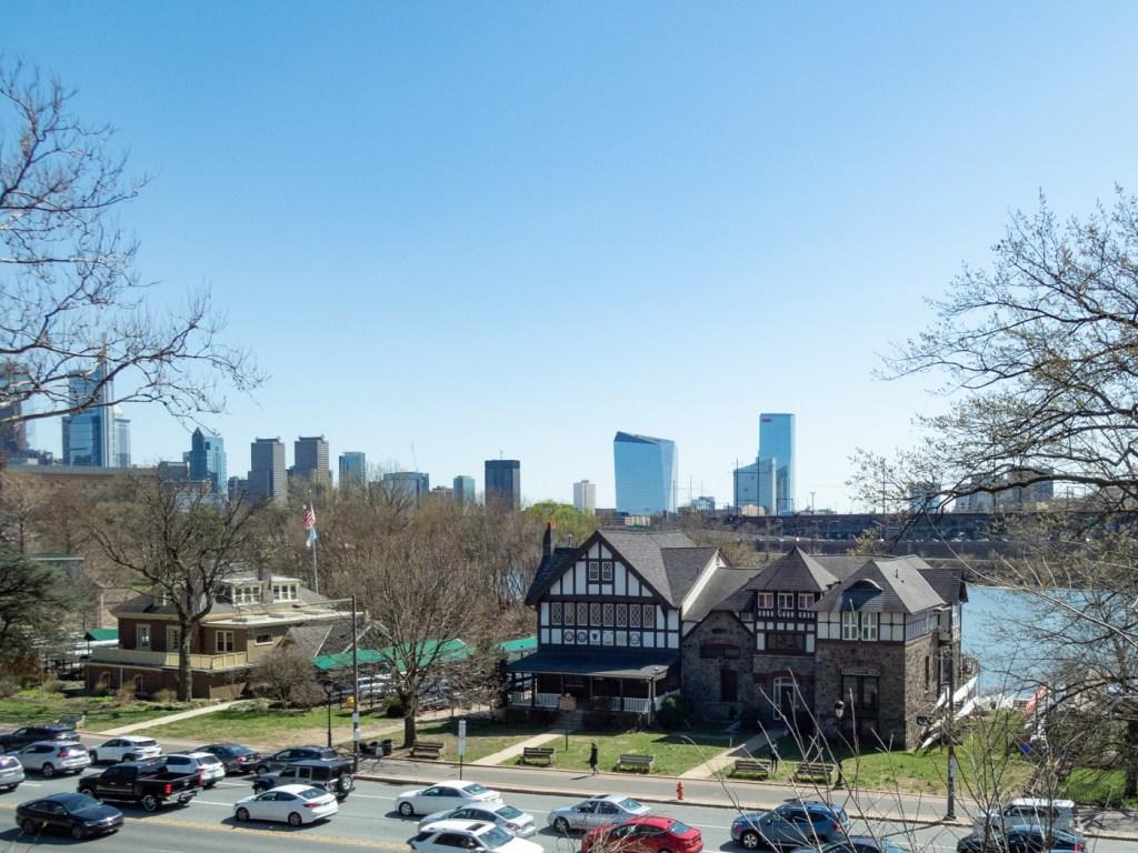 Boathouse Row and Philadelphia Skyline as Seen from Lemon Hill