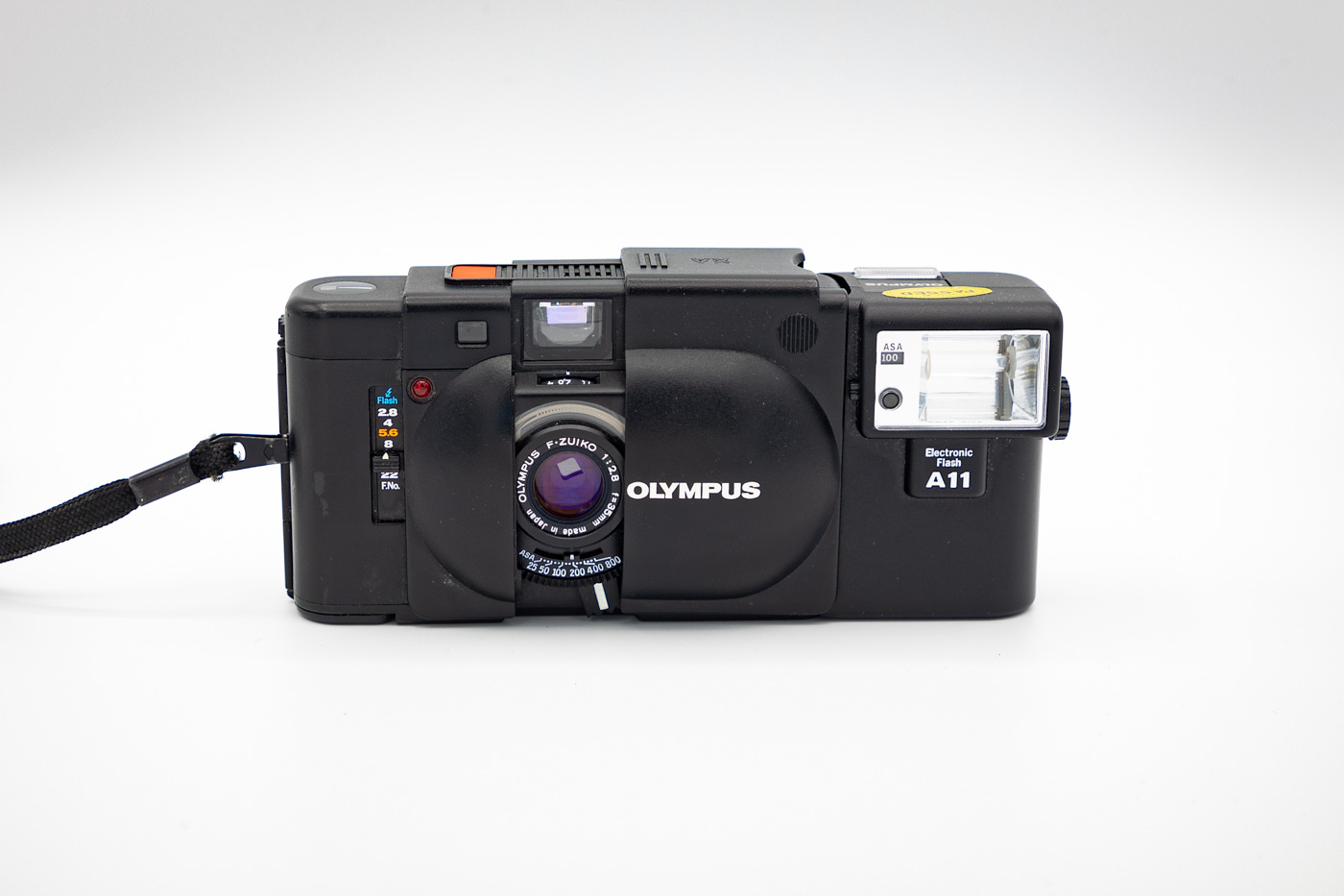Olympus XA with A11 Electronic Flash