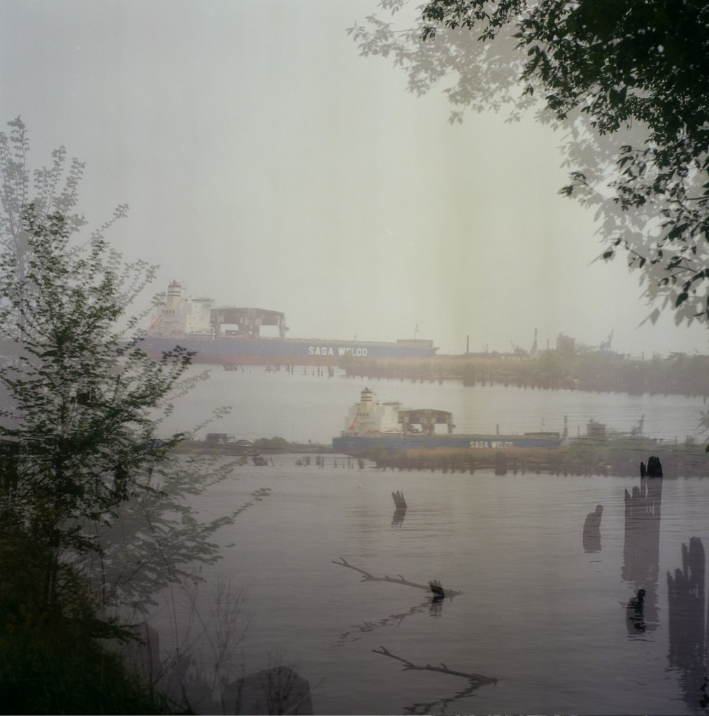 Accidental Double Exposure along the Delaware River