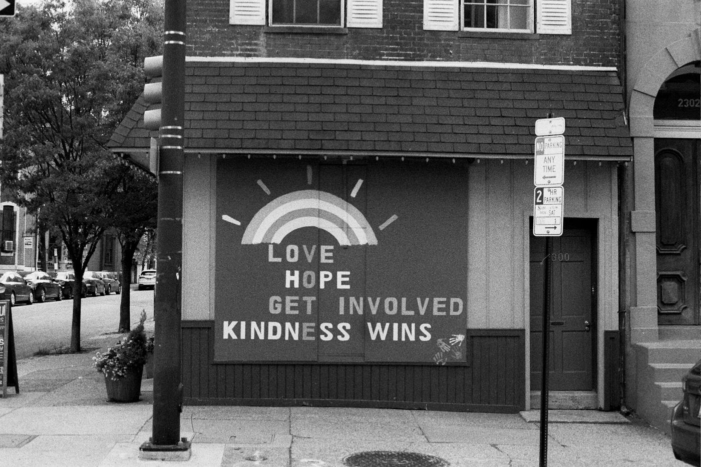 Love Hope Get Involved Kindness Wins