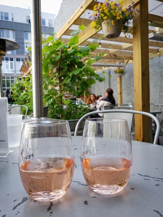 Sparkling Rosé at Jet Wine Bar