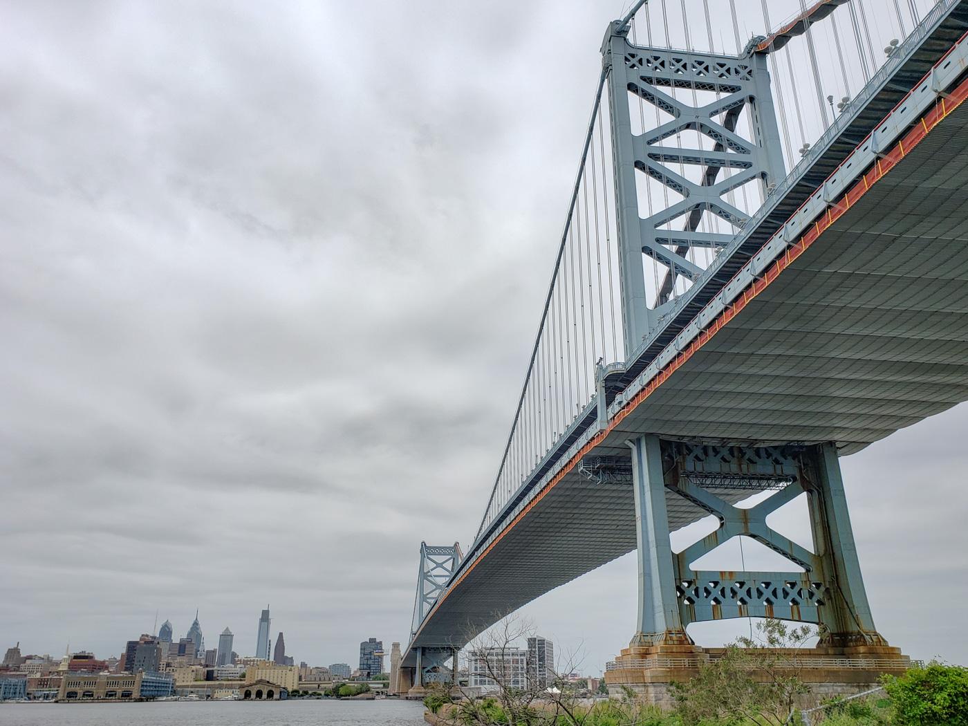 Benjamin Franklin Bridge from the Jersey Side