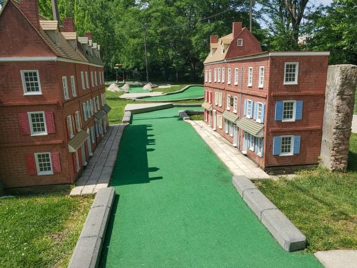 Elfreth's Alley at Franklin Square Mini-Golf