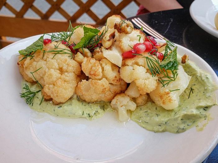 Roasted Cauliflower at Charley Dove