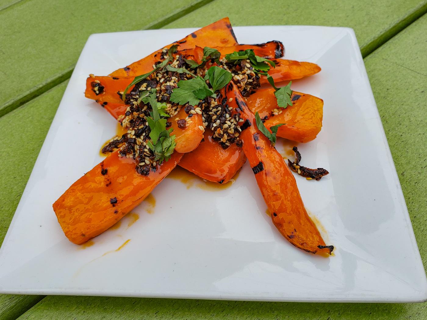 Chili Crisp Carrots at American Sardine Bar