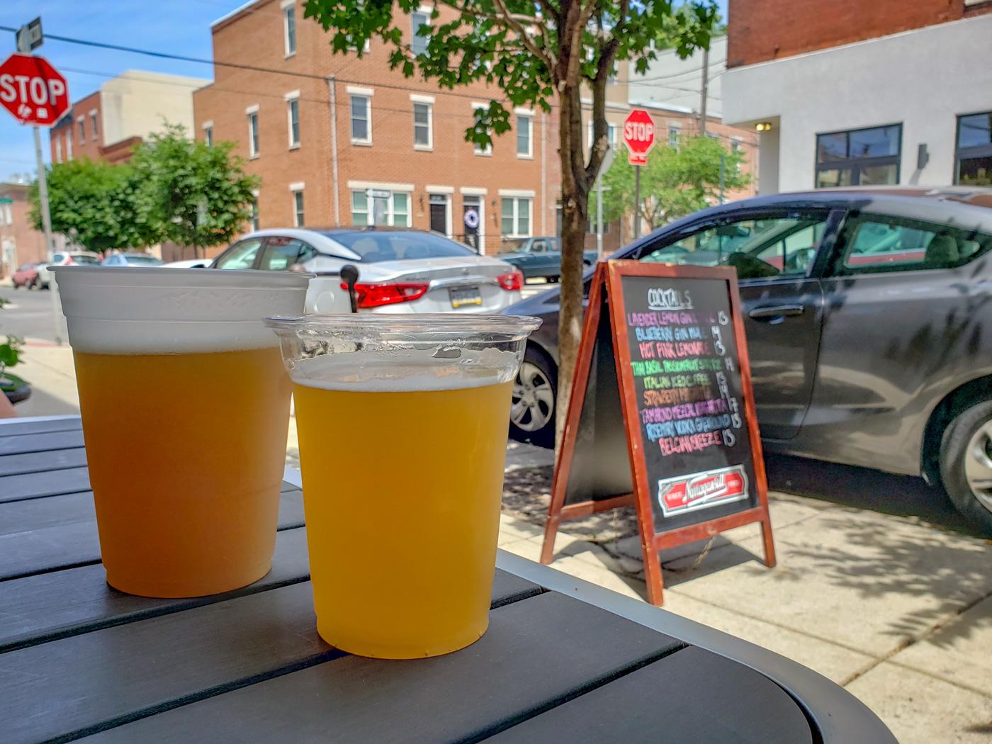 Beers at American Sardine Bar