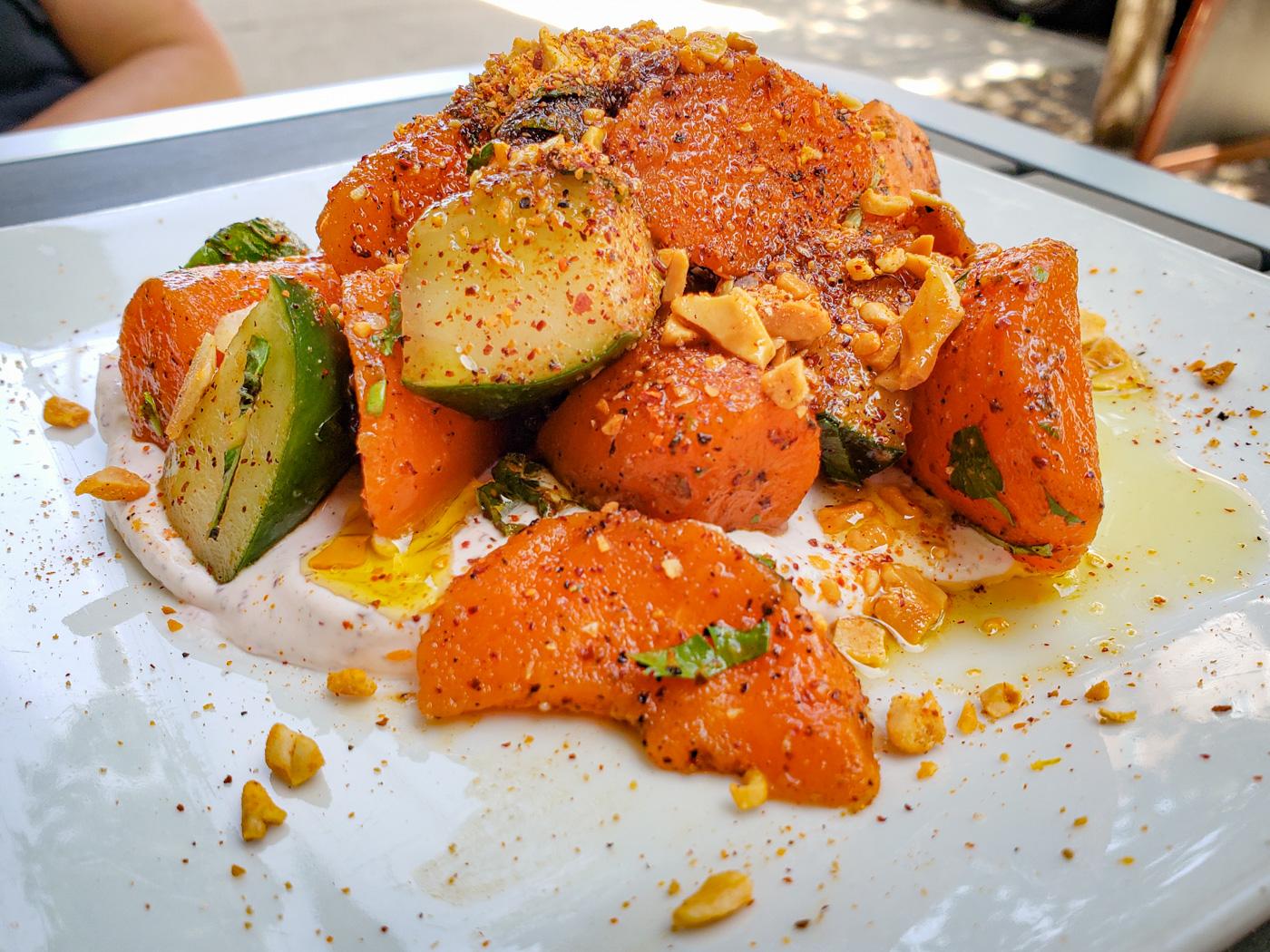 Carrot Cucumber Salad at American Sardine Bar