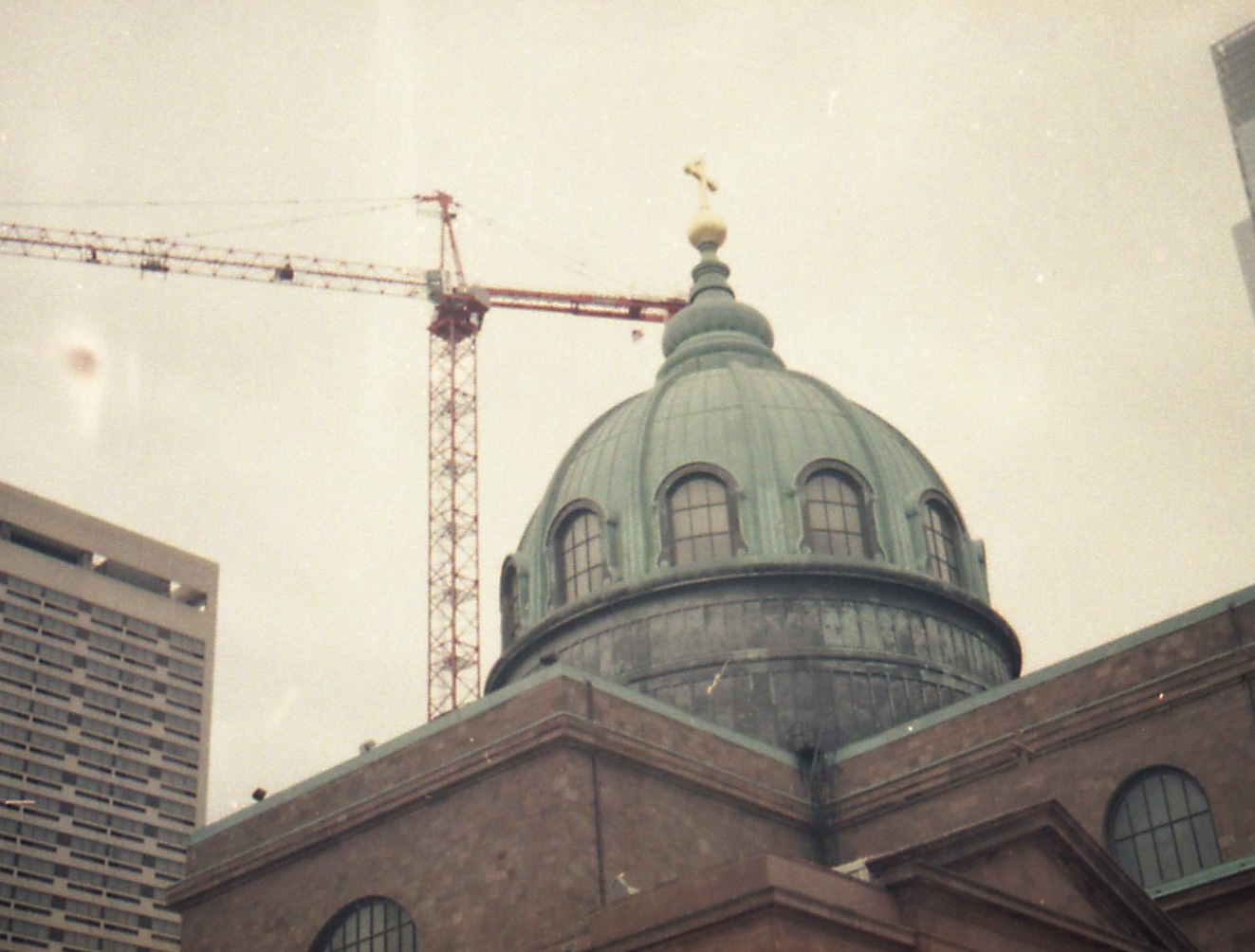 Cathedral Basilica of Ss. Peter and Paul and Crane
