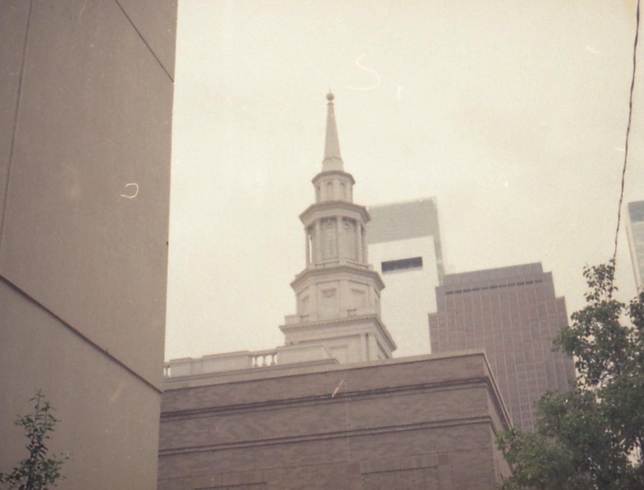 Philadelphia Pennsylvania Temple and Comcast Building