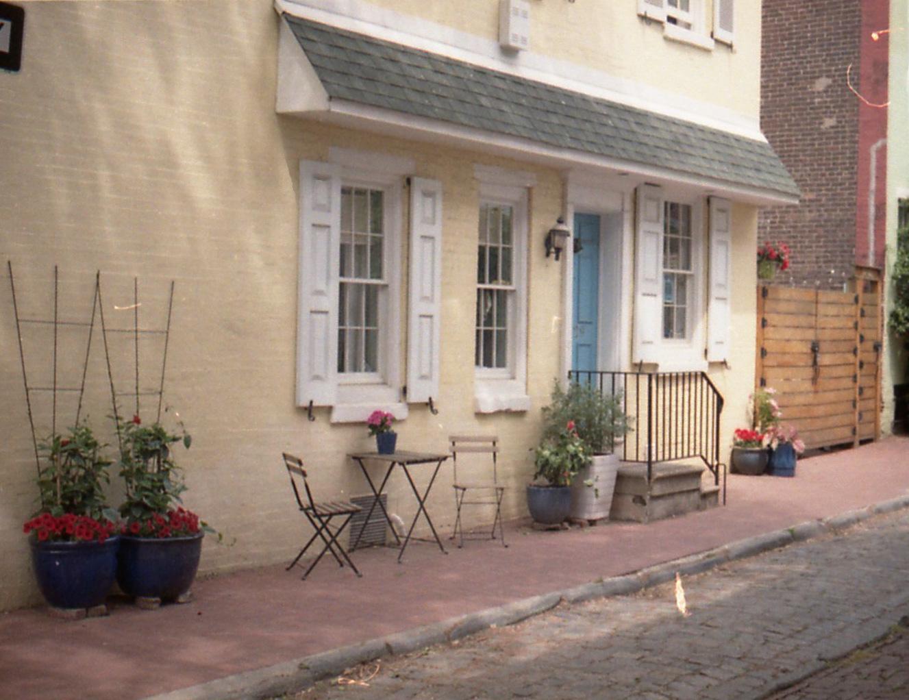 Blue Door Yellow House