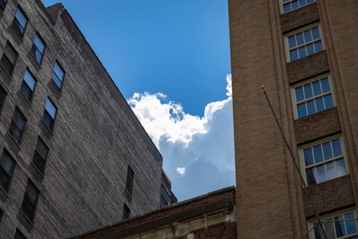 Clouds Between Buildings