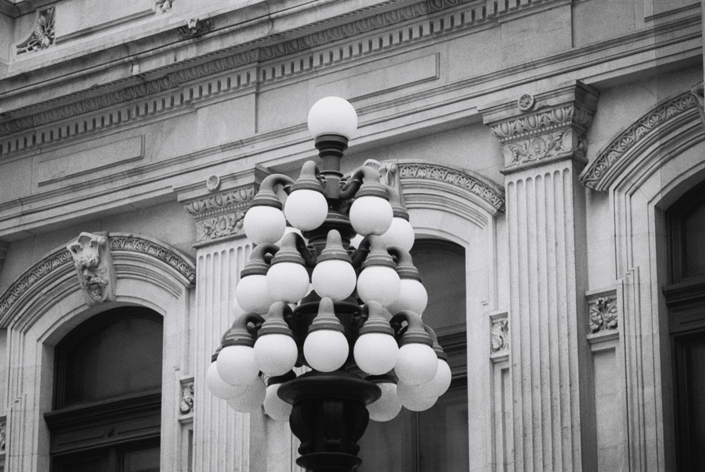 Lamp outside Philadelphia City Hall