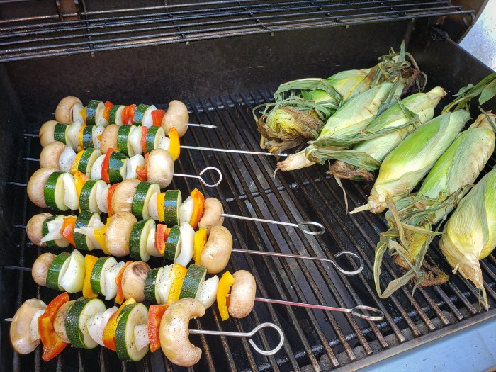 Grilling Veggies and Corn