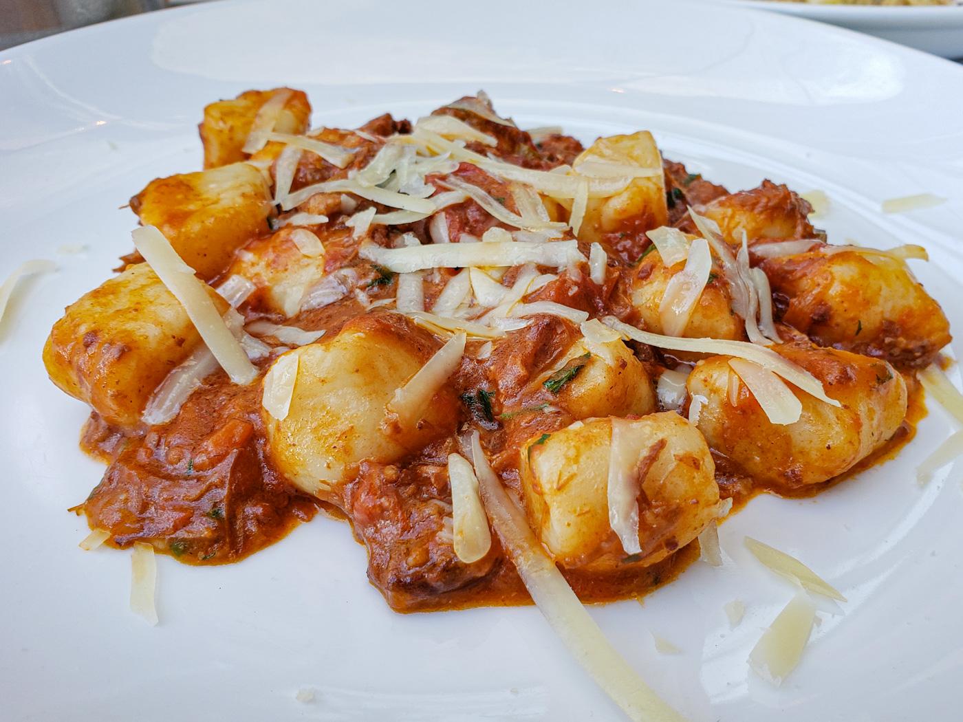 Potato Gnocchi with Wild Boar Bolognese at L'Anima