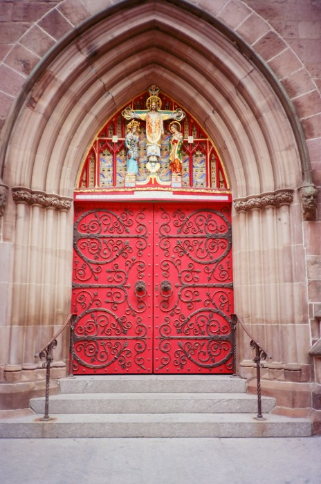 Red Doors at Saint Mark's Church