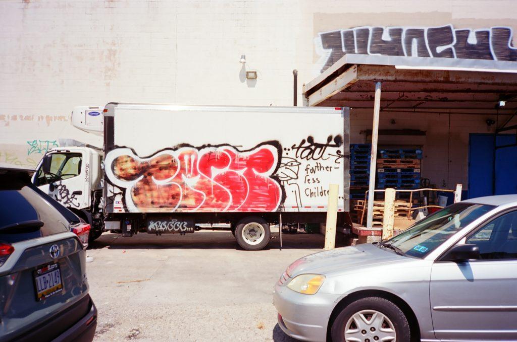 Red Graffiti Truck