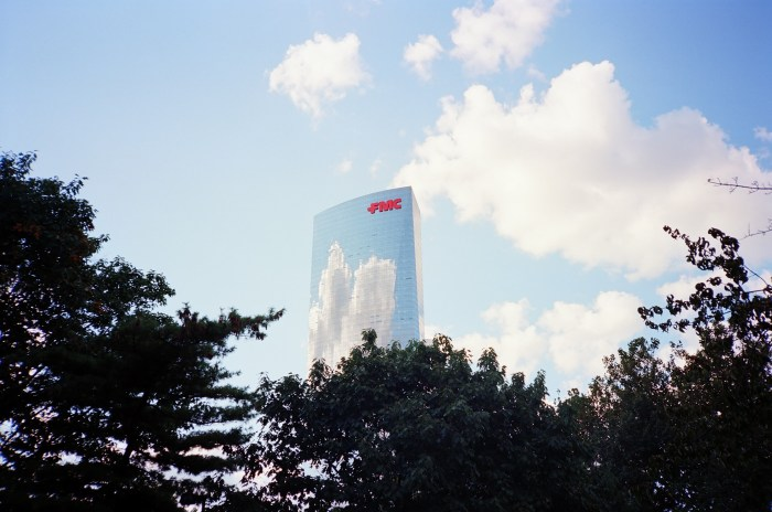 Cloud Reflections on FMC Tower