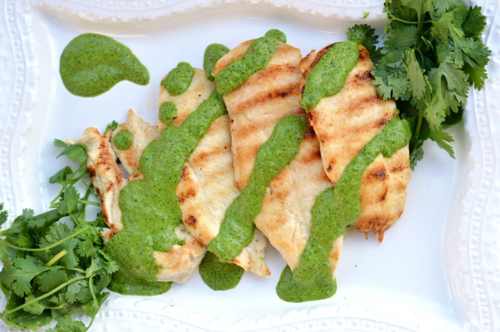 grilled chickenw ith chimichurri sauce - clean eating with this creative nest