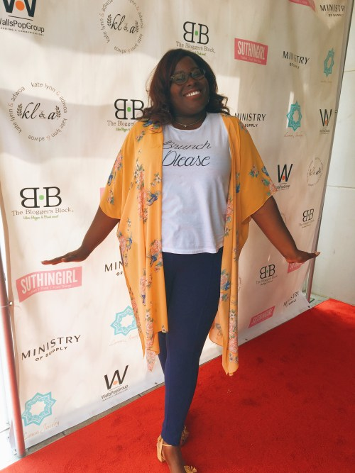 My first blogger step and repeat. I was sooo excited and had no idea how to pose lol