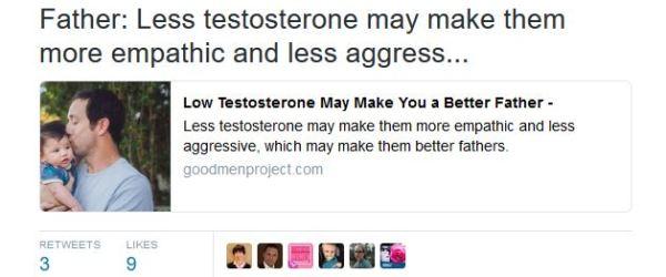 good men project lowers testosterone