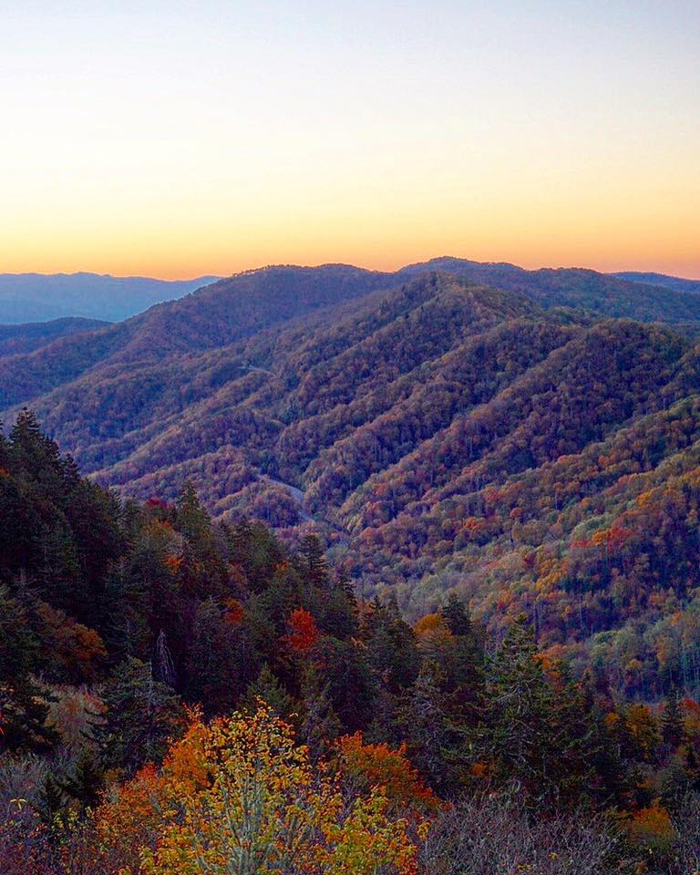 Smoky Mountains sunrise | thisdarlingworld.com