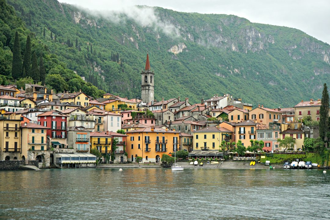 Arriving in Varenna by ferry