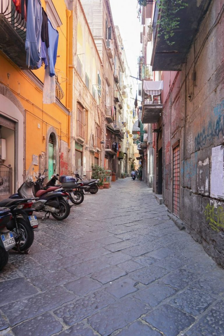 Streets of Naples Italy