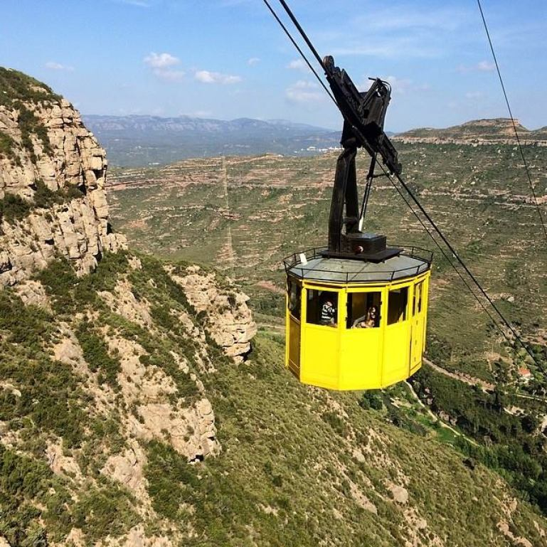 Montserrat Mountains of Barcelona Spain
