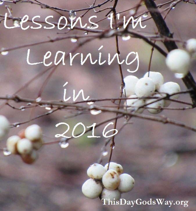 Lessons I'm Learning in 2016