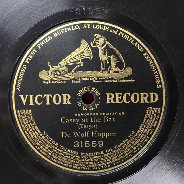 The first recorded version (Columbia Graphophone Grand, #9649) of the poem Casey at the Bat, vocalized by recording pioneer Russell Hunting, is released. The more well-known rendition of Earnest Thayer's work, the one popularized by DeWolfe Hopper, will not be heard by the public until 1906.