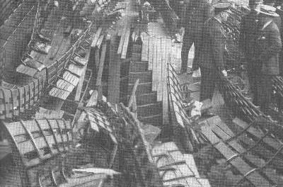 A walkway collapses at the Baker bowl and 12 fans are killed