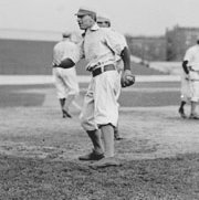 "Brooklyn Superbas knock Chicago Cubs pitcher Jack ""Brakeman"" Taylor out"