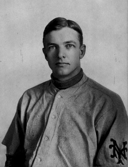 At the Polo Grounds, Christy Mathewson makes his first start, pitching a complete game loss to the Orphans.