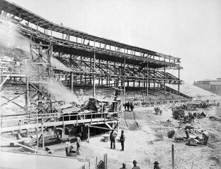 The Pittsburgh Pirates begin construction on Forbes Field