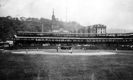 Playing their last game in Exposition Park, the Pirates score four runs in the 1st inning off Mordecai Brown and sail to an 8 – 1 win over Chicago. Lefty Leifield is the winner. Tomorrow, the Pirates will move to Forbes Field, named after British General John Forbes, who captured Fort Duquesne during the French and Indian War.