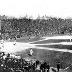 After three straight defeats and trailing thePhiladelphia Athletics, 3 - 2, in the 9th inning of Game 5, theChicago Cubstie the score, then win, 4 - 3, in 10 innings for their only victory in theWorld Series.Three Finger Brown, in relief, is the winning pitcher overChief Bender, who throws acomplete game.