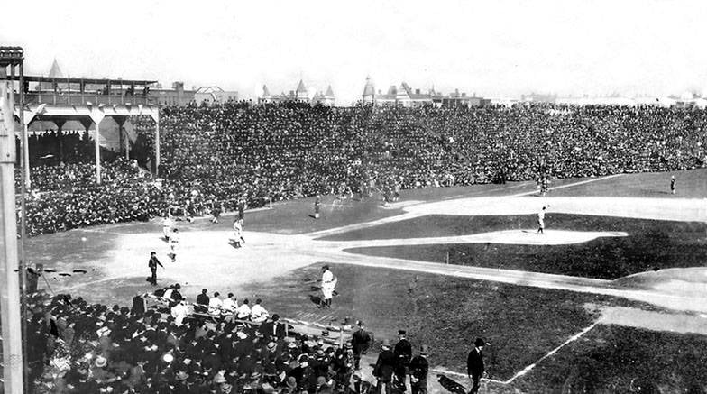 After three straight defeats and trailing thePhiladelphia Athletics, 3 – 2, in the 9th inning of Game 5, theChicago Cubstie the score, then win, 4 – 3, in 10 innings for their only victory in theWorld Series.Three Finger Brown, in relief, is the winning pitcher overChief Bender, who throws acomplete game.