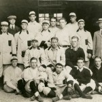 In the first game ever played at Fenway Park, the Boston Red Sox defeat Harvard University