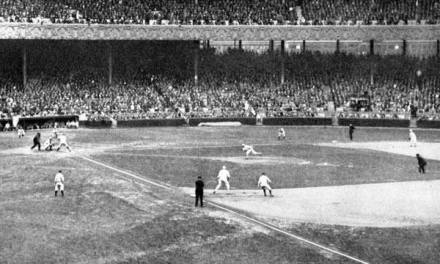 1922 – The Yankees play their farewell home game in the Polo Grounds. An estimated 40,000 overflow the stadium with another 25,000 turned away. Joe Bush beats the Philadelphia A's, 10 – 3, in the opener, and Waite Hoyt edges the A's in the second, 2 – 1. Plans are in the works to expand the park to 56,000 capacity, but this is the last regular season American League game at the Polo Grounds. The Yanks will play their next 18 games on the road, and then open in Yankee Stadium next spring.