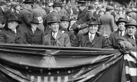 President Warren G. Harding, an avid baseball fan who likes to keep a scorecard at games, witnesses the first shutout ever thrown at Yankee Stadium. The chain-smoking Chief Executive is delighted to see Babe Ruth's fifth-inning homer off Allen Russell but is disappointed the Senators drop the contest, 4-0.